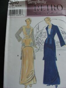 Simplicity 8640 Sewing Pattern Women's Retro 2 piece dress Titanic 1910 Costume