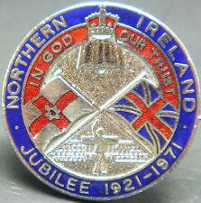 NORTHERN IRELAND Rare vintage 1921-71 JUBILEE Badge Maker W.J DINGLEY B'ham 32mm