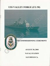 USS Valley Forge (CG 50) - US Navy Decommissioning Program - 2004