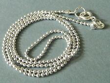 KUGELKETTE Halskette mit Federring Verschluss Metall silber 1,5 mm 46 cm 2710