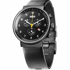 New Braun BN0035BKBKG Men's Classic Chronograph Analog Display Quartz Watch,40mm