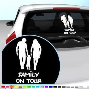 Family on Tour Aufkleber Heckscheibe Deko Sticker Weiß 27x15 cm #180921BG
