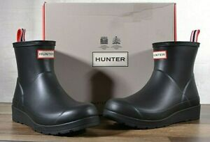 Hunter Women's Black Rubber Rain Boot Original Play Boot Short 7 MED WFS2020RMA