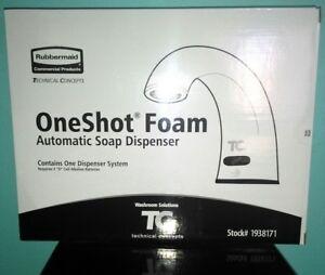 New Rubbermaid Technical Concepts Counter OneShot Foam Automatic Soap Dispenser