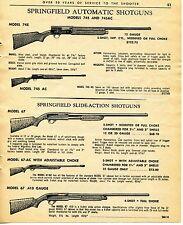 1965 Print Ad of Springfield Automatic Shotguns Model 745 745AC 67 & 67-AC