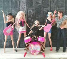 Mattel Barbie Ken Doll Bundle Redressed Girl Pop Band & Manager