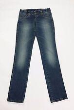 Gas jeans harlan donna w26 tg 40 slim dritti straight blu usato denim T2027