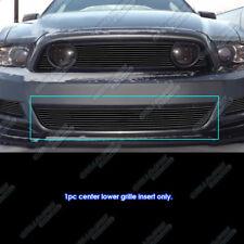 Fits 2013-2014 Ford Mustang GT Black Bumper Billet Grille Insert