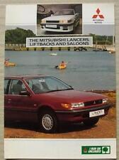 MITSUBISHI LANCER LIFTBACKS & SALOONS Car Sales Brochure Aug 1989 #08/89