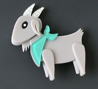 Unique  large Goat brooch Pin In acrylic