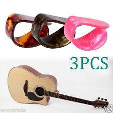 3 PCS Celluloid Guitar Thumb Picks Finger Picks Plectrum Band Mix Color picks