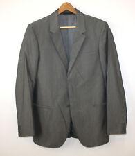 Calvin Klein Collection Smoking Dinner Jacket Blazer Cotton Silk Grey 36 R Italy