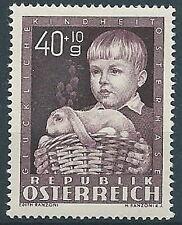 1949 AUSTRIA A PROFITTO OPERE PER L'INFANZIA 40+10G MNH ** - A048