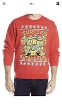 Teenage Mutant Ninja Turtle Men's Group Res Ugly Christmas Sweater 2xl Xxl