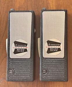 Vintage Lafayette CB channel 10 Walkie-Talkies, model HE-29 C, Tested, Working