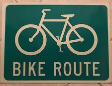 NEW Bike Route Real Reflective Road Sign Film Garage, Bar, ManCave, Bicycle Lane