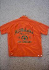 Vintage 1970s Bowling Shirt Los Angeles Logo Graphic Button Front Gabardine Rare