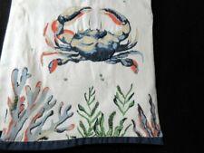 "NWT Pier 1 Imports 72"" Beaded Crab Table Runner Sea Life Beach Nautical"