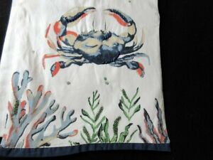 "NWT Pier 1 Imports 72"" Beaded Crab Table Runner Sea Life Beach Nautical"