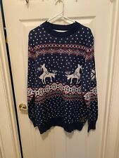 Tipsy Elves Ugly Dirty Christmas Sweater Humping Deer Reindeer Men XL Free Ship