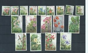 Kenya stamps.  16 of the 1983 Flowers used.  CV £24+ (D526)