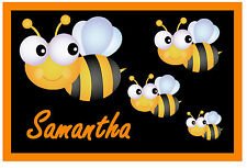 CUTE BUMBLE BEES  - PERSONALISED - NOVELTY  FRIDGE MAGNET - NAME - NEW - GIFT