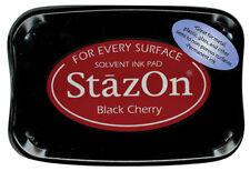Tsukineko 345767 StazOn Solvent Inkpad Black Cherry