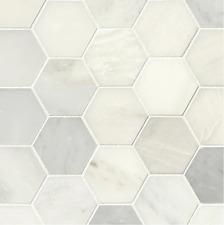 "MSI Greecian White 3"" Hexagon Polished 12x12 Mosaic Tile BACKSPLASH KITCHEN BATH"