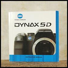Genuine Minolta 5D Digital SLR Instruction Manual