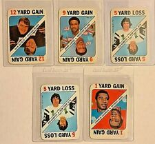 1971 Topps Football Game Inserts Card Lot of 5 Joe Namath Dick Butkus