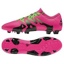 Adidas x 15.2 FG/ag sintética botas de fútbol rosa/verde/negro [s74673]