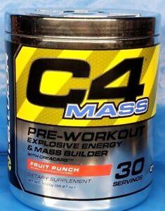 Cellucor C4 Mass Pre-workout Energy & Mass Builder Fruit Punch PAST DATE DEAL