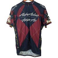 Voler Blue & Burgundy Alaska Airlines Diamond Cycling Jersey - Size XL
