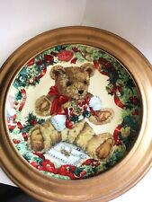 """Franklin Mint Heirloom by Sarah Bengry """"Teddy's First Christmas"""" plate # U-9150"""