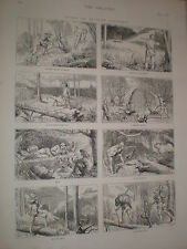 Deporte en Columbia Británica 1876 impresión Ref V de caza