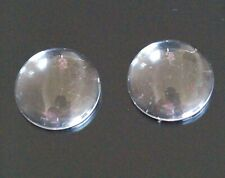 20 Transparent Clear Round Cabochon Cameo Dome Settings Flat Round 20mm AB11