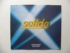 Catalogue miniatures autos SOLIDO collection 1978 - 1979