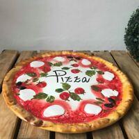 BASSANO KERAMIK TELLER SERVIERPLATTE 33 CM PIZZA 3D POMODORO MOTIV AUS ITALIEN