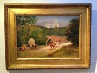 D.MASSONI Huile sur toile signée Ecole italienne 72x54 cm