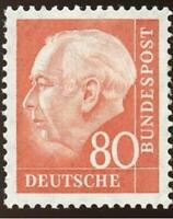 West-Germany 1957 Heuss 80 Pfg. # 760 - MNH