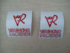 (2) VR46 Bici calcomanías Pegatina Valentino Rossi, Espejos Ventana Divertido Broma Dormitorio