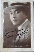 Sesue Hayakawa 1st Asian American Film Star Signed Picture Postcard ''Rare''