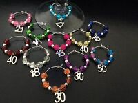 Birthday Special Age Wine Glass Charm 13th, 16th, 18th, 21st, 30th, 40th, 50th