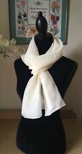 Scarf Blank for Dyeing/Printing 30%silk/70%wool blend 180x40cm hand rolled hem