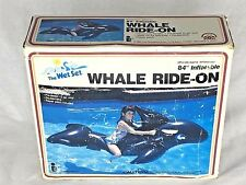 """Vintage 1980's Whale Ride-On 84"""" Inflatable by Wet Set Intex 1985"""