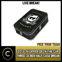 2013-14 UPPER DECK THE CUP HOCKEY 3 BOX (HALF CASE) BREAK #H494- PICK YOUR TEAM