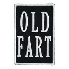 Old Fart Black & White Patch, Funny Patches