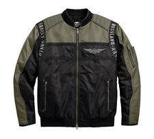 Harley-Davidson Men's Mainstreet Nylon Bomber Jacke Gr. 3XL Herren, Schwarz Grün