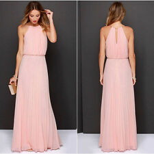 Women Long Chiffon Evening Formal Cocktail Dress Bridesmaid Prom Gown Dresses