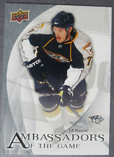 2010-11 Upper Deck Ambassadors of The Game #2 J.P. Dumont  Nashville Predators